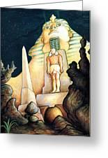Magic Vegas Sphinx - Fantasy Art Greeting Card