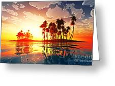 Magic Sunset In Clouds Greeting Card
