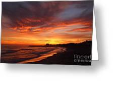 Magic Sunset Greeting Card by Victoria Herrera