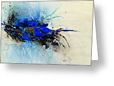 Magical Blue-abstract Art Greeting Card by Ismeta Gruenwald