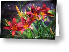Magical Evening Daylilies Greeting Card