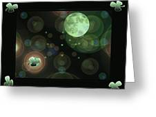 Magical Moonlight Clover Greeting Card