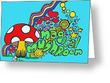 Magical Mushroom Pop Art Greeting Card