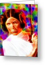 Magical Princess Leia Greeting Card