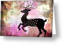 Magical Reindeers Greeting Card