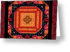 Magical Rune Mandala Greeting Card