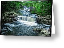Magical Waterfall Stream Greeting Card
