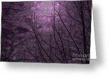 Magically Violet Night Sky Greeting Card