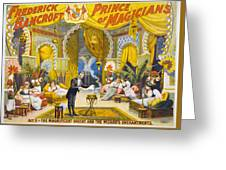 Magician Poster, C1895 Greeting Card