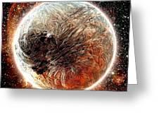Magma Planet Greeting Card by Bernard MICHEL