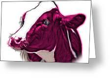 Magneta Cow Holstein - 0034 Fs Greeting Card
