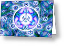 Magnetic Fluid Harmony Banner Greeting Card