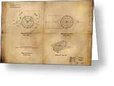 Magneto System Blueprint Greeting Card