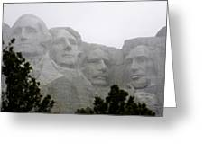 Magnificent Mount Rushmore Greeting Card