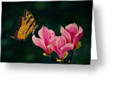 Magnolia And Butterfly Greeting Card