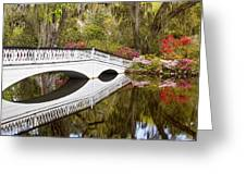 Magnolia Gardens' Bridge Greeting Card
