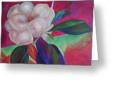 Magnolia I Greeting Card by Susan Hanlon