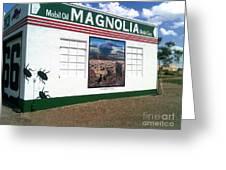 Magnolia Mobil Gas Greeting Card