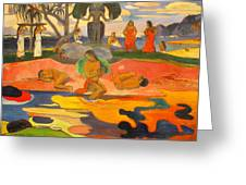 Mahana No Atua Aka. Day Of The Gods Greeting Card