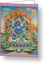Mahankal Thangka Art Greeting Card