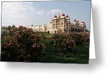 Maharaja's Palace And Garden India Mysore Greeting Card