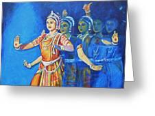 Mahishaasura Mardini Greeting Card