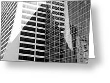 Mahnattan Architecture Black And White Greeting Card