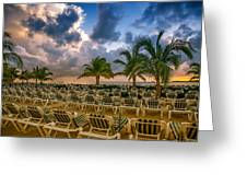 Mahogany Bay Beach-roatan-honduras Greeting Card