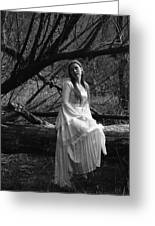 Maiden In The Forest Greeting Card