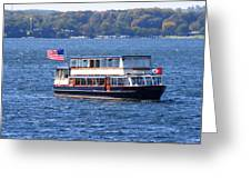 Mail Delivery Boat Lake Geneva Wisconsin Greeting Card