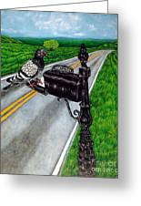 Mail Delivery Greeting Card by Jay  Schmetz