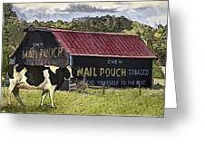 Mail Pouch Barn With Cow Greeting Card