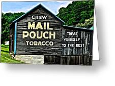 Mail Pouch Chew Greeting Card