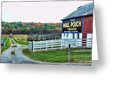 Mail Pouch Tobacco Barn In The Fall Greeting Card