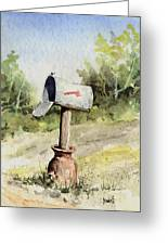 Mailbox Greeting Card by Sam Sidders