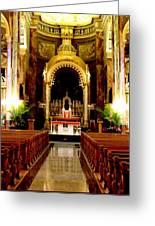 Main Altar Of Basilica Greeting Card