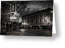 Main And Exchange Bw Greeting Card