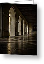 Main Building Arches University Of Texas Greeting Card