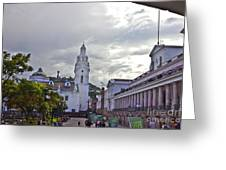 Main Square In Quito Ecuador Greeting Card