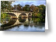 Main St Bridge Greeting Card