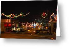 Main St. Christmas Lights Greeting Card