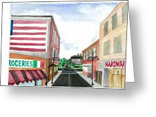 Main St. Is White-washed Windows And Vacant Stores Greeting Card by Jeremiah Iannacci