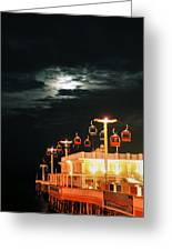 Main St Pier Sky Lift Greeting Card by Paulette Maffucci