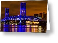 Main Street Bridge Jacksonville Florida Greeting Card