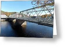 Main Street Bridge Shelbourne Falls  Greeting Card