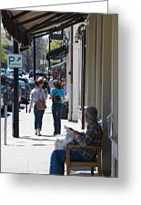 Main Street Concord Greeting Card by Allan Morrison
