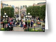 Main Street Disneyland 02 Greeting Card