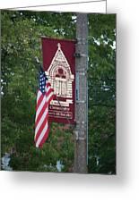 Main Street Flags Dwight Il Greeting Card