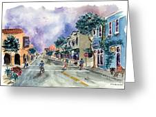 Main Street Half Moon Bay Greeting Card by Diane Thornton