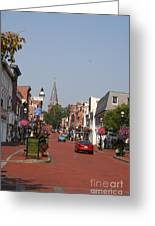 Main Street In Downtown Annapolis Greeting Card